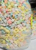 在瓶子的糖果 库存照片