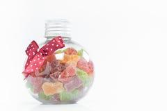 在瓶的糖果 免版税库存照片