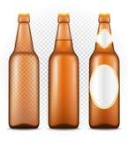 在瓶透明储蓄传染媒介例证的啤酒 向量例证