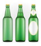 在瓶透明储蓄传染媒介例证的啤酒 库存例证