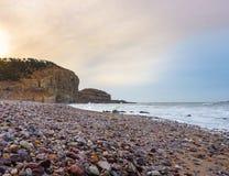 在瓷的岩石海岸 免版税图库摄影