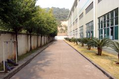 在瓷的工厂厂房 图库摄影