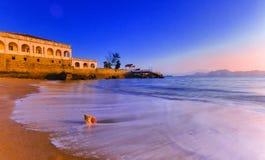 在瓷的海滩 库存照片