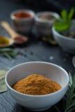 在瓷的红色咖喱 库存照片