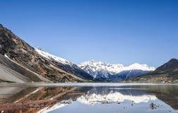 在瓷的美好的西藏风景 免版税库存图片