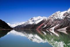在瓷的美好的西藏风景 免版税图库摄影