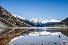 在瓷的美好的西藏风景 库存图片