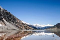 在瓷的美好的西藏风景 图库摄影