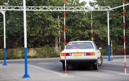 驾驶执照考试训练场地 免版税库存图片