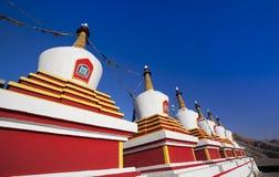 在瓷的Stupa 免版税库存照片