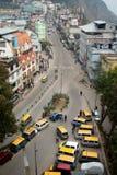 在甘托克,锡金,印度的计程车车站 免版税库存照片