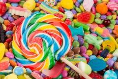 在甜点的棒棒糖 免版税库存照片