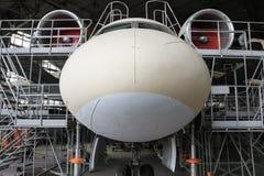 在生产的客机 免版税库存照片
