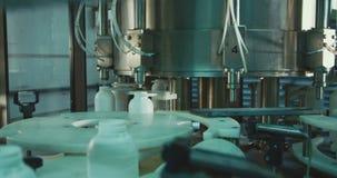 在生产线的化工瓶 影视素材