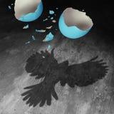 在生动之下的去蓝色蝴蝶概念花飞行自由天空swallowtail 免版税库存照片
