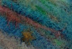 在生动的秋天颜色的水彩背景与纸纹理 库存图片