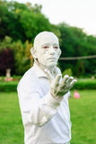 在生存雕象期间国际节日的雕象  免版税图库摄影