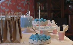 在生日聚会的糖果 库存照片