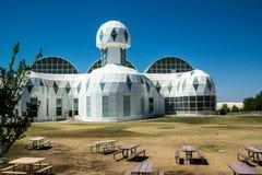 在生物圈二号的现代建筑学 免版税图库摄影