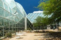 在生物圈二号的现代建筑学 免版税库存图片