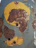 在生锈的金属的老难看的东西纹理 库存图片