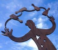 在生锈的铁的雕塑 免版税图库摄影