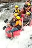 在用筏子运送赛跑的活动在泰国。 图库摄影