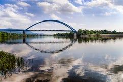 在田纳西河的桥梁在农村田纳西 库存图片