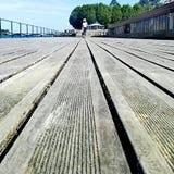 在甲板的步行 免版税图库摄影