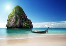 在甲米府的海滩 免版税库存图片