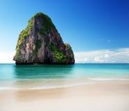 在甲米府的海滩 免版税库存照片