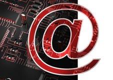 在电子邮件标志的综合图象 图库摄影