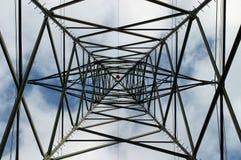 在电定向塔的几何样式 免版税图库摄影