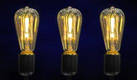 在电灯泡的惊叹号 免版税库存照片