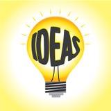 在电灯泡的想法照明 向量例证