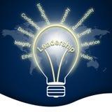 在电灯泡的领导 免版税库存图片