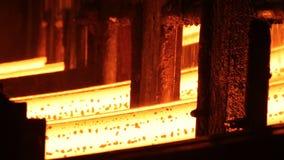在电炉的钢铁生产 巨大的铁器 股票录像