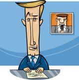 在电视动画片的播报员 免版税库存照片