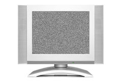 在电视屏幕的噪声 库存照片