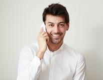 在电话的交谈 免版税库存图片