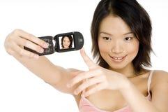 在电话的照相机 免版税库存照片