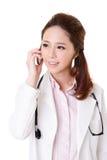 在电话的谈话 免版税图库摄影