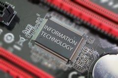 在电路板的计算机芯片 免版税图库摄影