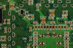 在电路的计算机芯片 免版税库存照片
