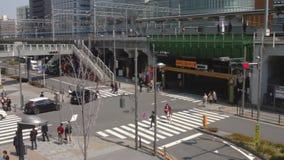 在电镇的街道在秋叶原东京 股票录像