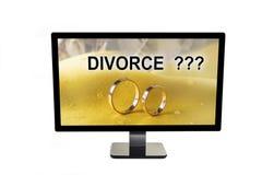 在男人和妇女之间的婚姻可能最终获得离婚 免版税库存图片