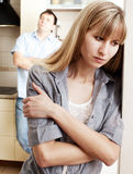 在男人和妇女之间的离婚 免版税图库摄影