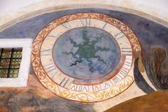 在男修道士的方济会修道院的修道院计时较小在杜布罗夫尼克 免版税库存照片