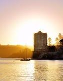 在男子气概, NSW澳大利亚的日落 图库摄影