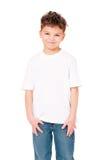 在男孩的T恤杉 免版税库存照片